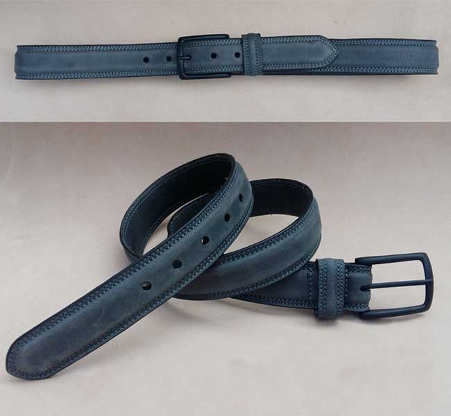 Formal Feather Edge Leather Belts