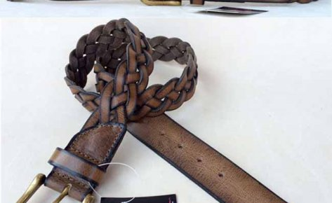 Waxy Crunch Leather Belt-131102